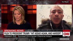 Syrian Survivor Cries With Joy After Trump's Air Raid